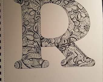 "Ink drawing - ""R"""