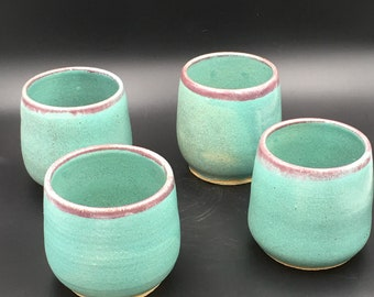 Hand thrown cups