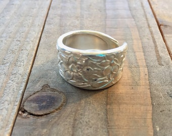 Spoon ring, Narcissus ring, Silverware ring, spoon jewelry, silverware jewelry, narcissus silverware, Narcissus jewelry, silver ring, 1935