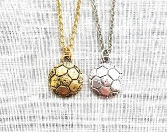 Soccer Mom Gifts, Soccer Ball Necklace, Girls Sports Decor Jewelry, Soccer Team Gifts Accessories , A0020