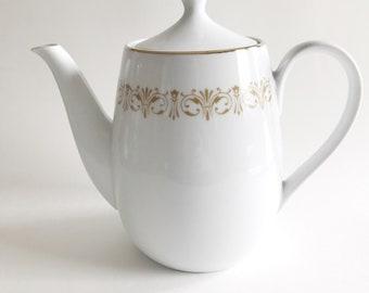 Vintage Sheffield Fine China Japan Imperial Gold Teapot and Lid 504,Vintage,Gold,Teapot,Fine China,Sheffield,Japan,Imperial,Mid Century