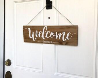Welcome Door Sign & Sit Relax Poop Bathroom Signs