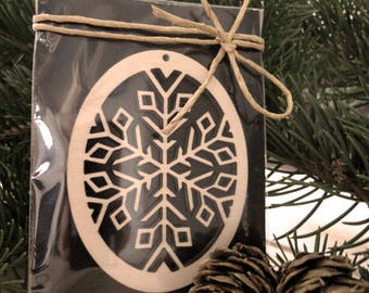 Wooden Snowflake Decoration. Christmas Ornament for Decoration - Laser Cut