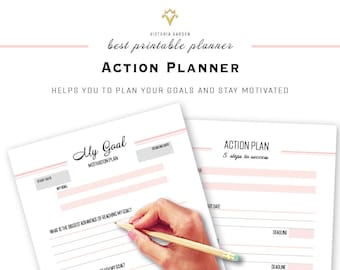 ACTION PLAN, printable planner, Life Binder inserts, Goal Planner Bundle, Printable Goal Planner, Printable pdf, best planner, planner goal