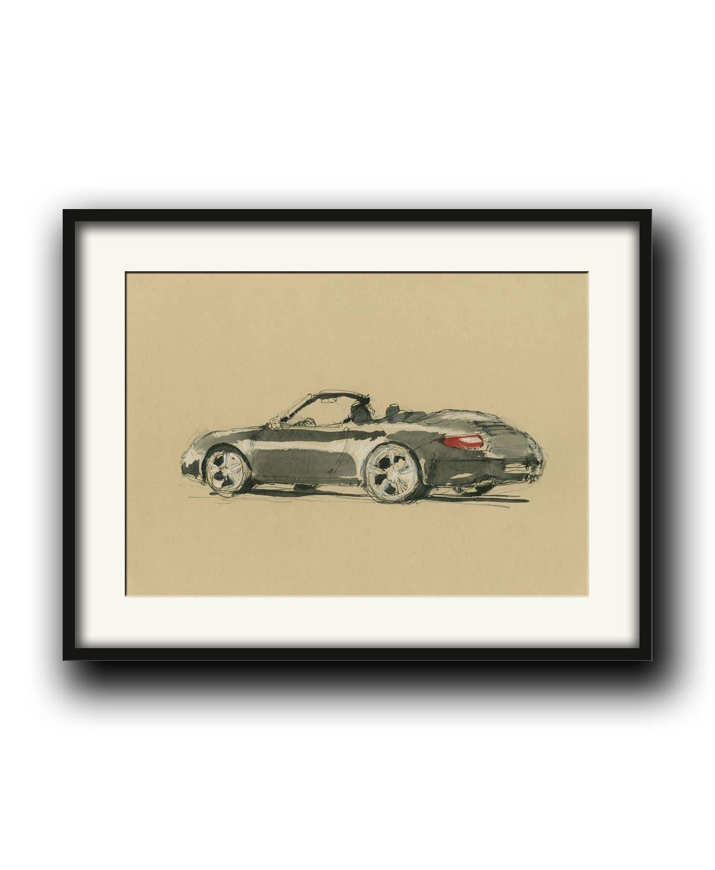 Porsche 997 cabrio Classic Porsche 911 Car-racing auto decor