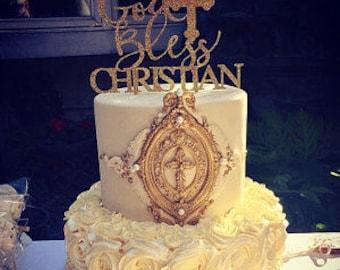 Mi bautizo cake topper baptism cake topper baptism girl cake