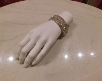 Gorgeous Rhinestone Bracelet/ 1980/ Material Girl/ Pin up/ 20's style/Party girl/ Marilyn/ Costume/