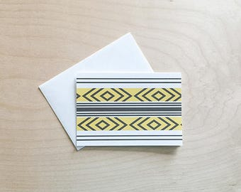 Cute note card set, Pattern Note Cards, note cards with envelopes, tribal, folded Note Card Set, Blank Card Set