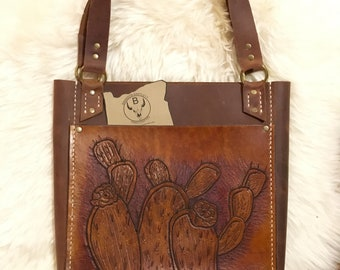 Leather Tote Bag, Handcrafted