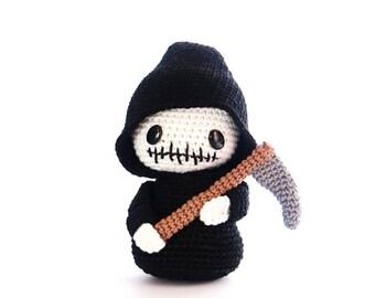 Grim REAPER Crochet Pattern, Kokeshi Doll