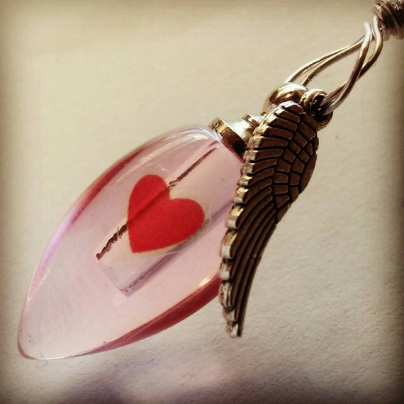 Fill yourself crystal cremation ash urn heart with angel wing solutioingenieria Image collections