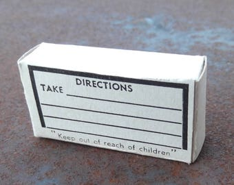 New Old Stock Cardboard Prescription Box - Medical Collectible - Pharmaceutical - Drug Store      (DR-003)