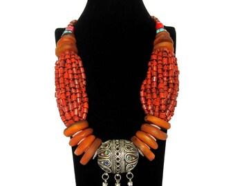 Vintage Moroccan Amber Necklace