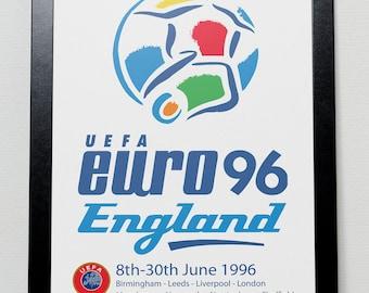 Euro 96 poster - England European Championships 1996