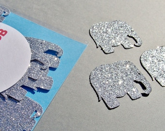Elephant confetti, 30 pcs, Elephant baby shower decorations, Elephant party decorations, Elephant die cut, Elephant cut out, Elephant cutout