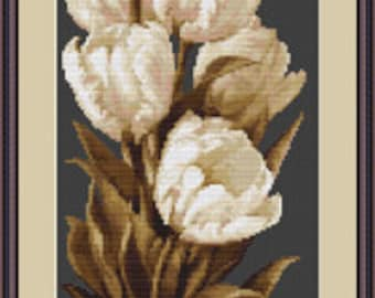 Cross Stitch Kit Tulips Luca-s Anchor threads