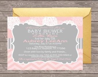 Baby Girl Shower Invitation | Baby Shower Invitation | Pink Shower Invitation | It's a Girl | Pink floral Baby shower | Digital Invitation