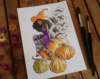 Pumpkin Witch*ORIGINAL