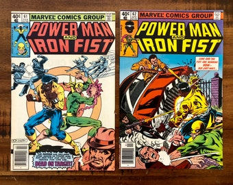 1980 Power Man and Iron Fist, Luke Cage #61 and #62 Comic Books/VF-VG/Marvel Comics /Thunderbolt/Choose One or Both for a Discounted Price!