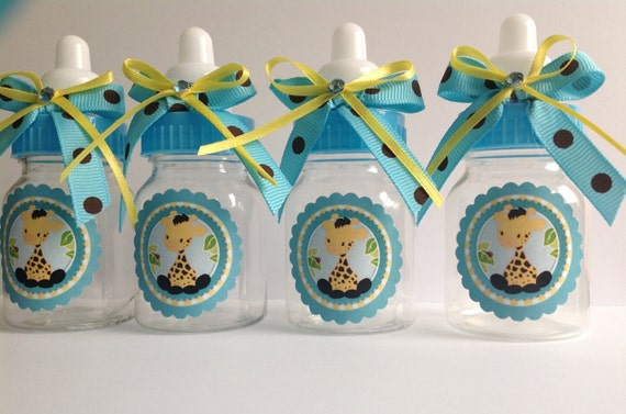 12 Small 3.5 Baby Giraffe Bottles Baby Shower Favors