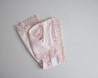 pink battenburg lace duster | pink lace jacket | pale pink duster