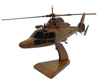 H-65 HH-65 MH-65 Coast Guard USCG Dolphin Sar Search And Rescue Helicopter Wood Wooden Model Gift
