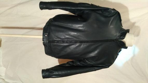 Vtg 90's PUNK GOTH Rocker reptile pvc jacket S o96hz43q