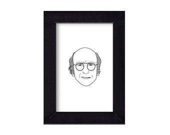 4 x 6 Larry David / Curb Your Enthusiasm / Seinfeld  Portrait