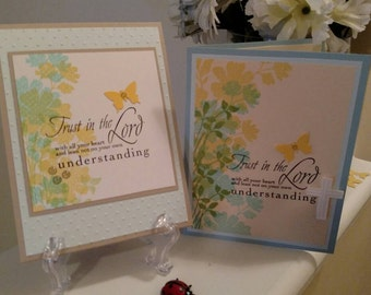 Handmade Scripture Cards - Handmade Stationary - Handcrafted Cards - Praying for You - Stay Encouraged - Thinking of You - 3.00