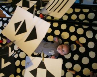 Digital Pattern for Montessori Black and White Mobile