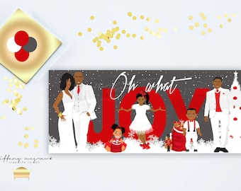 Oh What Joy 17    African American Christmas Cards