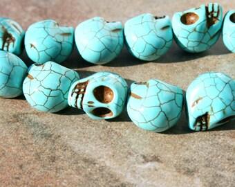 MAGNESITE Skull Bead 14 x 17mm