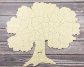 20 pc Wedding Guest Book Puzzle, guestbook alternative, wood TREE puzzle guest book, Bella Puzzles™. Rustic barn bohemian wedding.