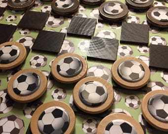Toys Games & Puzzles Board Games Soccer Themed Checkerboard
