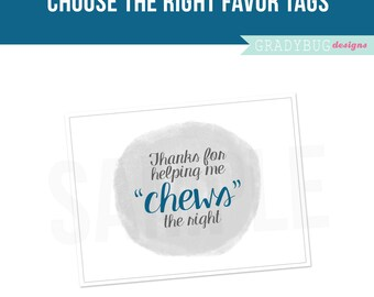 Choose the Right Favor Tags, Chews the Right, Baptism Favor Tag Printable, Favor Tag Printables, LDS Primary, Its Great to be 8, LDS Baptism