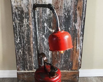 The Fillerup: Red Explosion Proof Gas Can Light