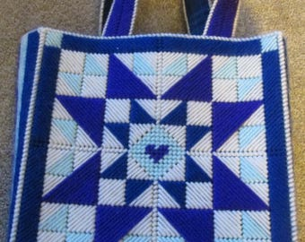 Small Needlepoint Tote Bag