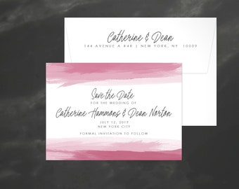 Watercolor Save the Date | Save our Date | Modern Wedding Announcement | Watercolor STD | Save the Date Card | Wedding STD | 18015