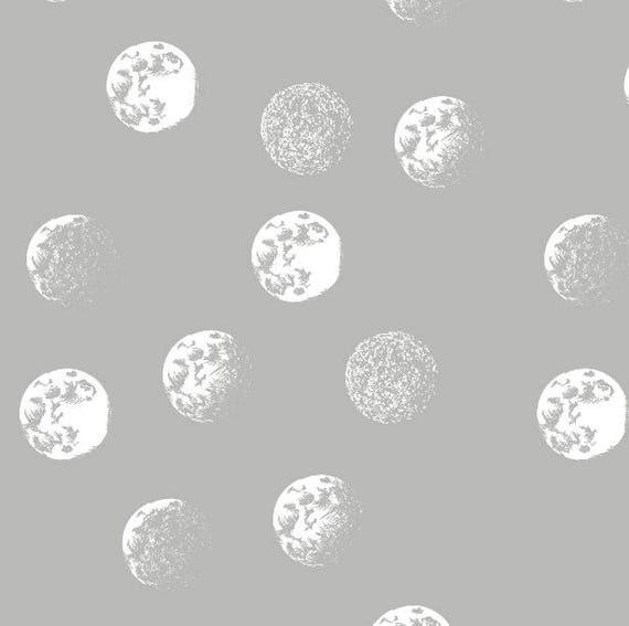 Stars Moon Nursery Moon Crib Bedding Gray Changing Pad
