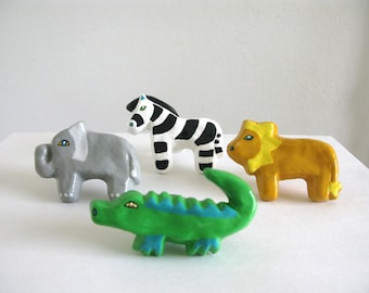 Safari Drawer Knob Set -  ceramic pull for dresser drawers kids rooms