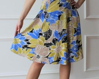 Viscose floral dress, fancy dress, Italian fashion summer dress, boho chic, Jersey dress, summer dress, Italian dress, summer dress
