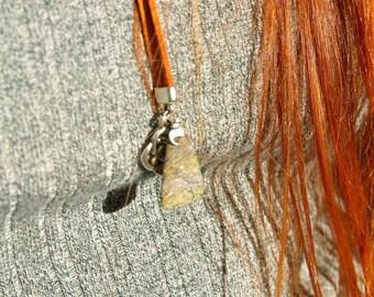 Natural Jade Long Necklace with Celtic Knot, Jade Pendant, Zodiac Gemstone Lariat, Jade gift, Birthstone necklace, gemstone long necklace