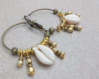 Earrings Bohemian sea shell