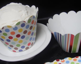 Dots and Stripes Cupcake Wrappers