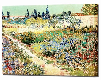 Van Gogh Garden at Arles Home Decor Canvas Print Canvas Interior Design Ready to Hang