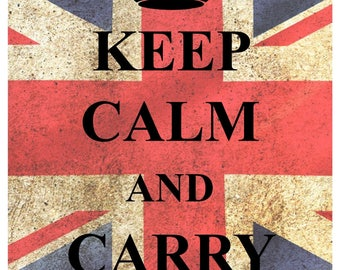 KC06 Keep Calm and Carry On Poster Print