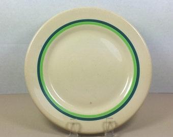 "WALLACE CHINA PLATE, 1936, Desert Ware Pattern, 6 7/8"" Salad Plate, Vintage Restaurant Dish"