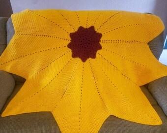 Nine Star Sunflower Blanket petrabaye
