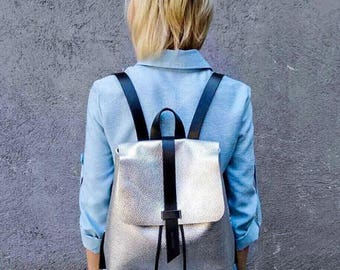 Leather backpack womens backpack laptop backpack women backpack leather rucksack rucksack women's backpack travel backpack small backpack
