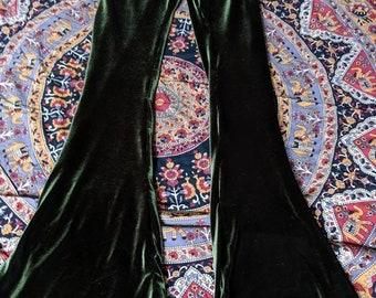 Velvet Bell bottom flare pants